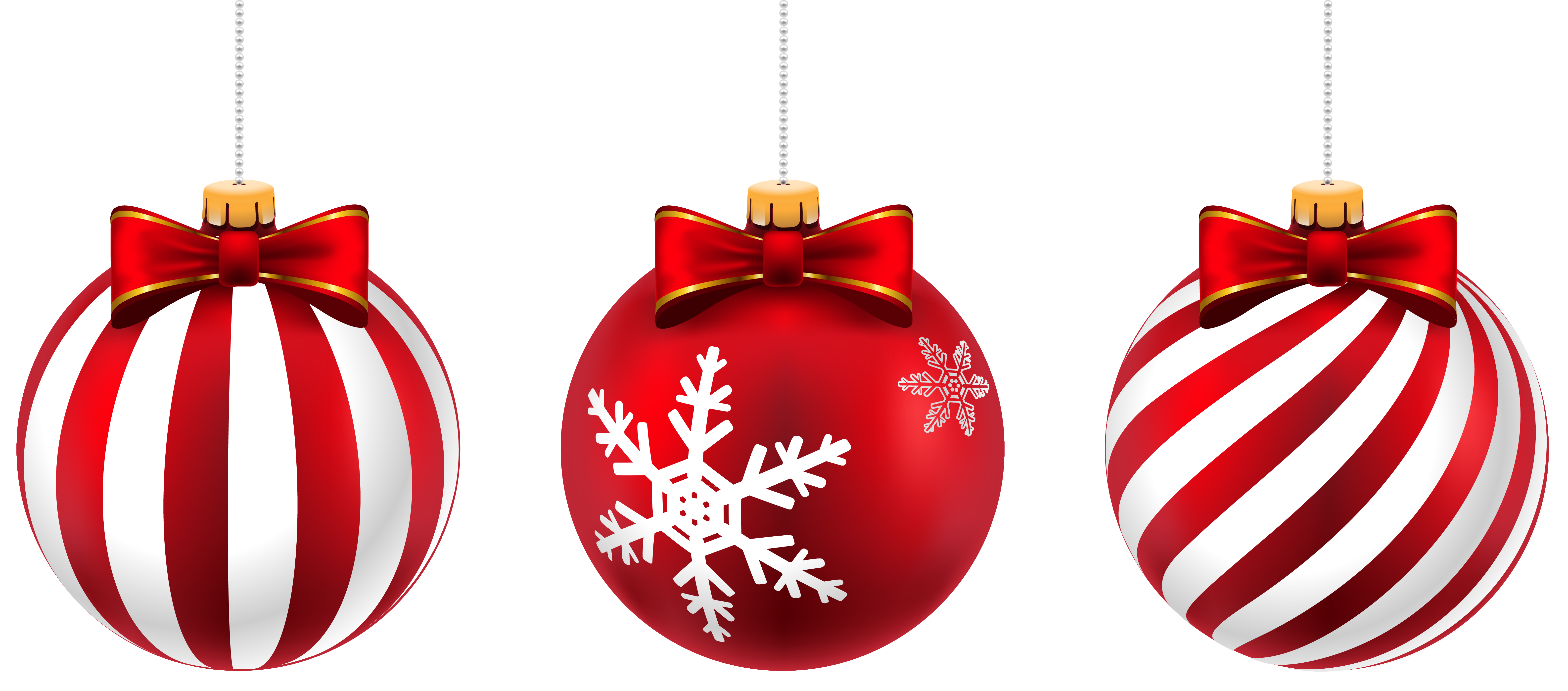 Beautiful Christmas Balls PNG Clip.