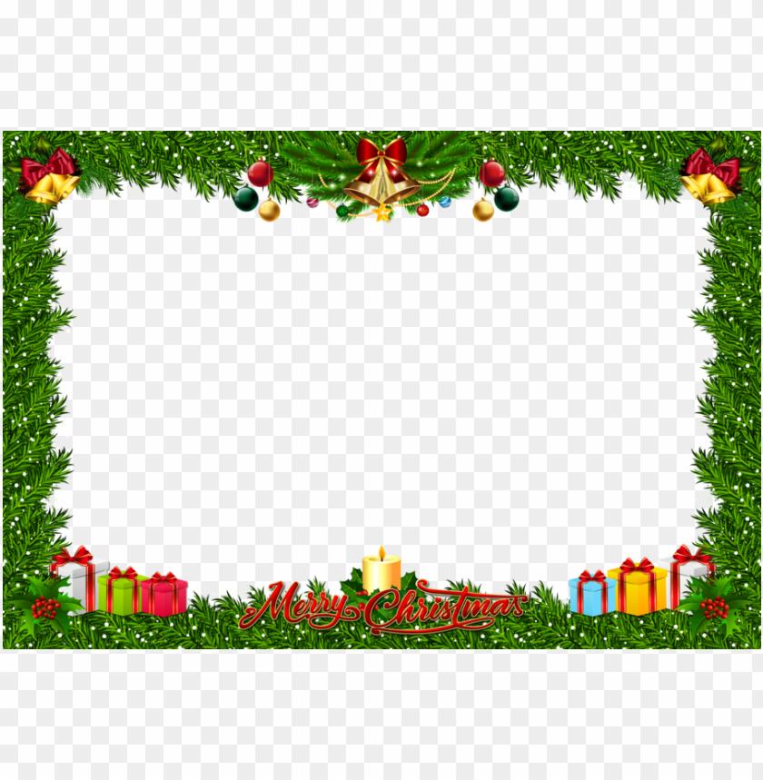 download fchristmas frame art png clipart santa claus.