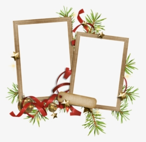 Christmas Double Picture Frame Clipart, HD Png Download.