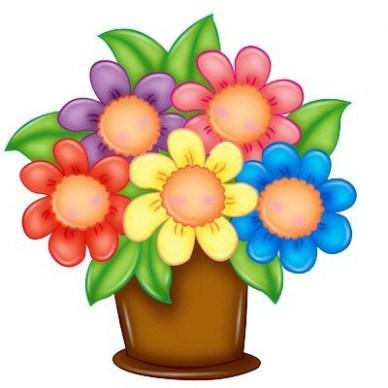 Beautiful clipart flower bouquet.