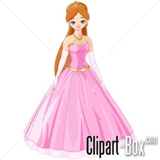 Beautiful Princess Free Clipart.
