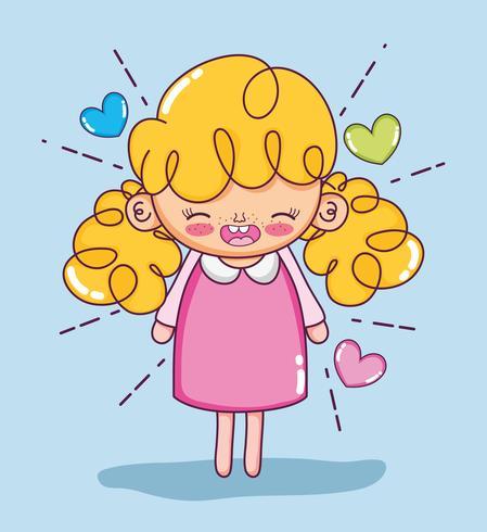 Beautiful girl cartoons.