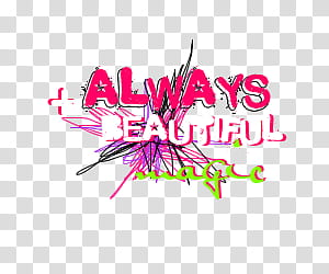 Text, always beautiful magic text transparent background PNG.