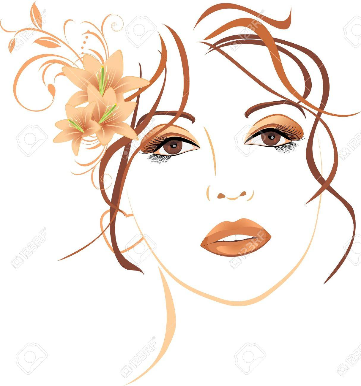 Beautiful woman clipart 3 » Clipart Station.