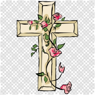 Free Flower Cross Png Transparent Images.