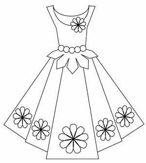 17 Best images about Clothing Dress Coloring For Adults Art Pages.
