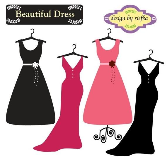 Beautiful Dress Clipart.