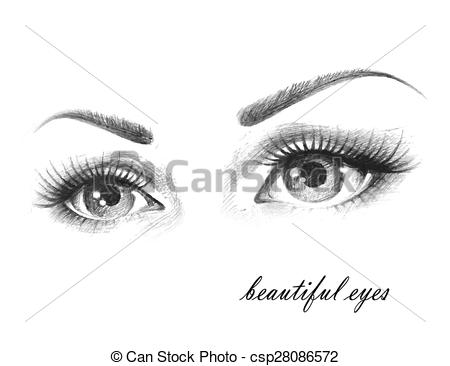 Beautiful eye clipart black and white 6 » Clipart Station.