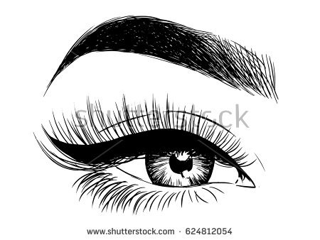 Beautiful eye clipart black and white 1 » Clipart Station.