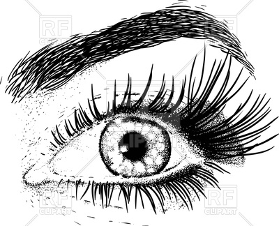 Beautiful eye of young girl Vector Image.
