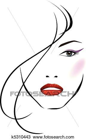 Beautiful girl face Clipart in 2019.