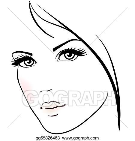 Beautiful face clipart 9 » Clipart Portal.