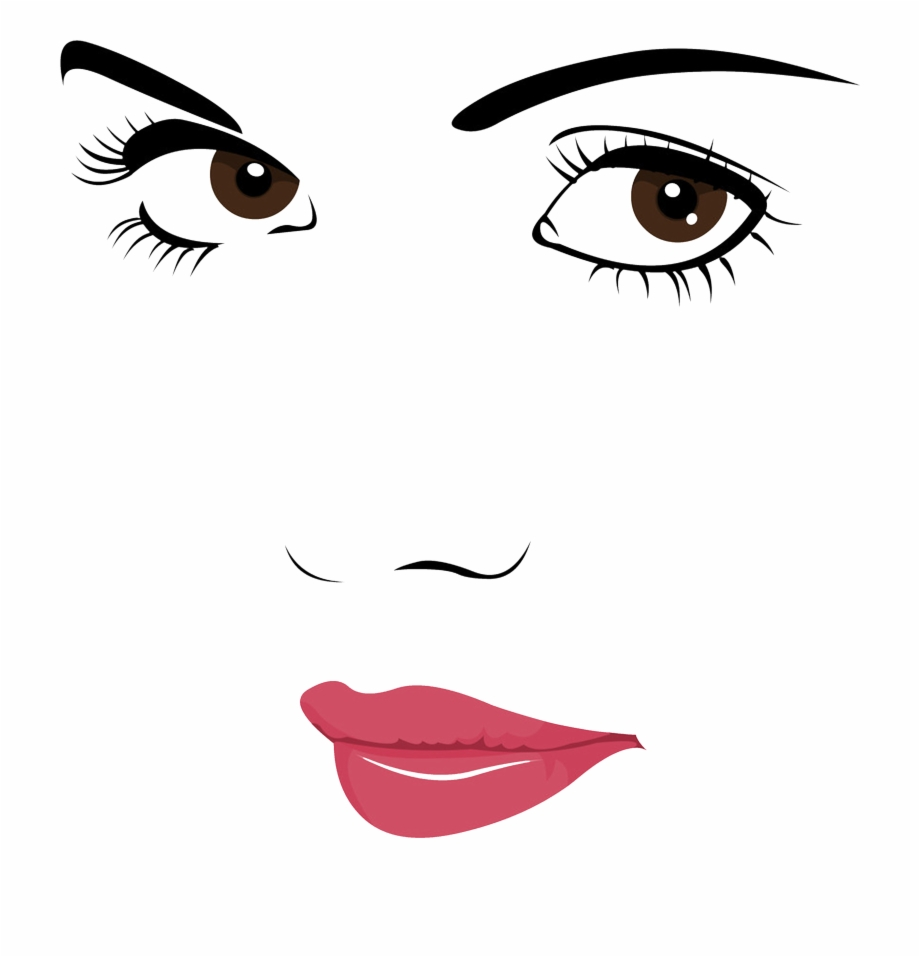 Face Portrait Woman Clip Art.