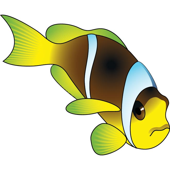Angry Fish Clipart.