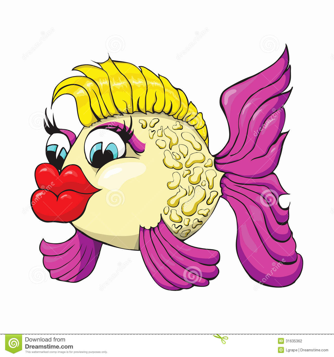 Fish lips clipart.