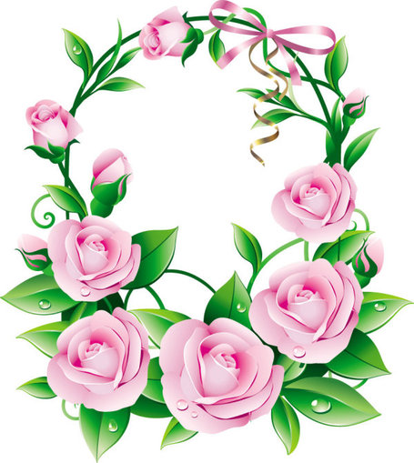 Beautiful flower clip art.