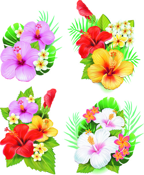 Beautiful flowers clipart.