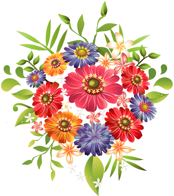 Pretty Flower Clip Art.
