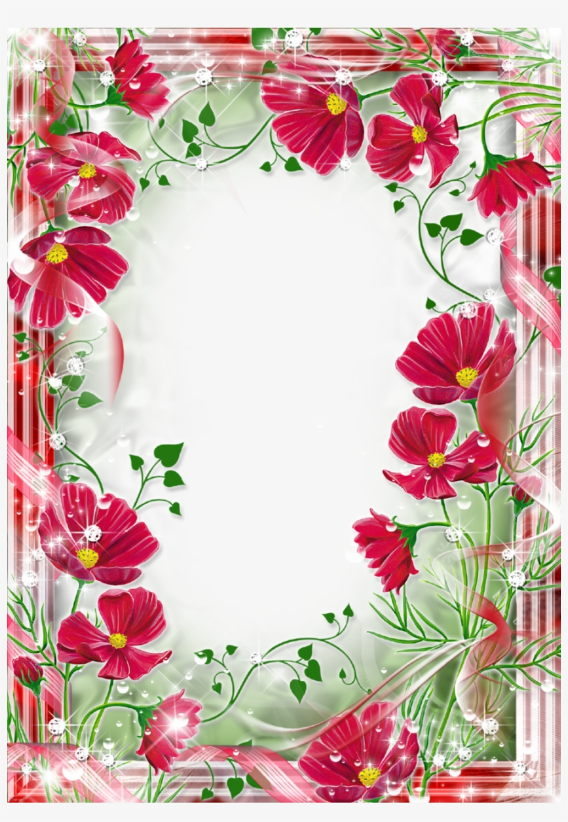 Beautiful Frame Flowers Clipart Picture Frames Flower.