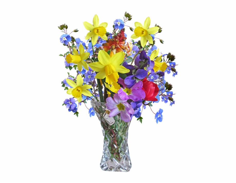 Beautiful Flower Vase With Flowers Png.