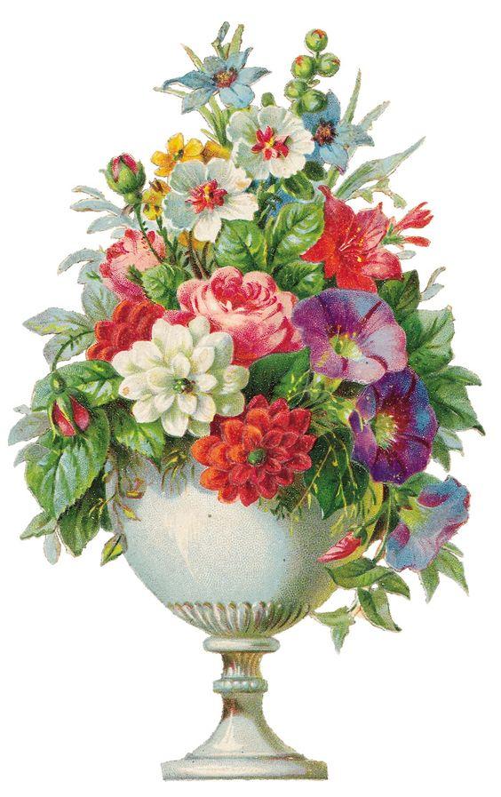 Vintage Flowers Clip Art Borders.