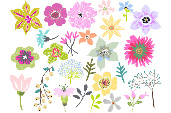 Beautiful images of flowers clipart.
