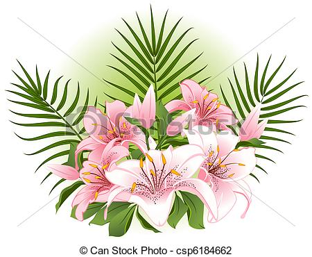 Vector Illustration of Background with beautiful flowers.
