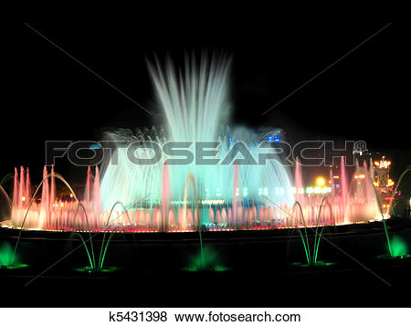 Pictures of Beautiful fountain in Barcelona k5431398.