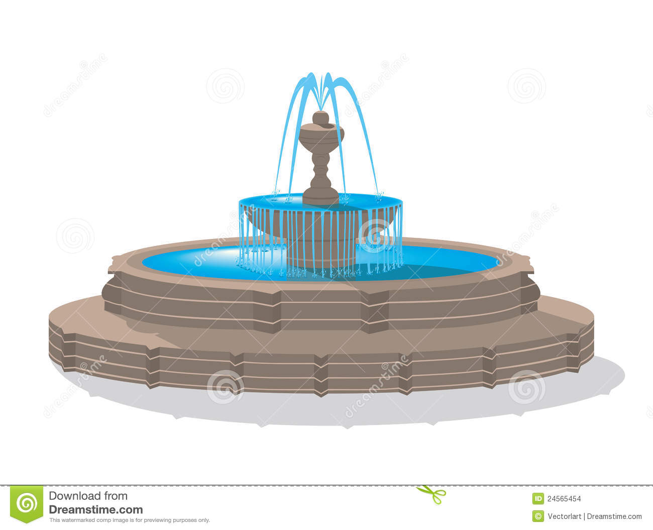 Fountain clipart free.