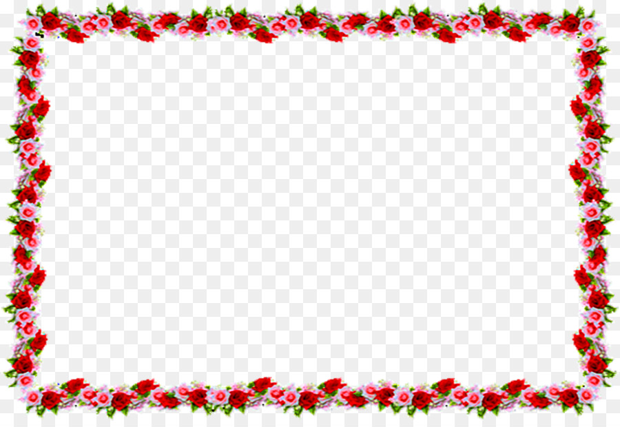 Blue Flower Borders And Frames png download.