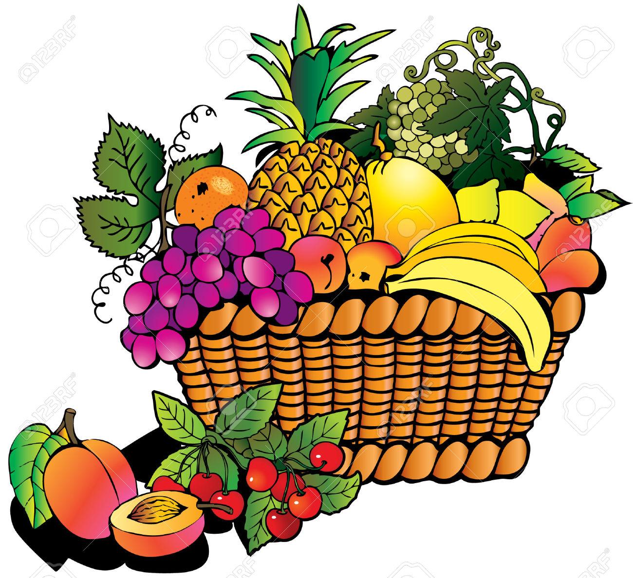 Beautiful fruits clipart.