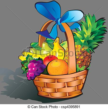 Vector Clip Art of Fruits..
