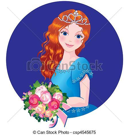 Beautiful girl clipart.