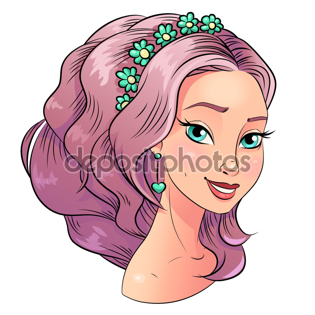 A beautiful girl clipart.