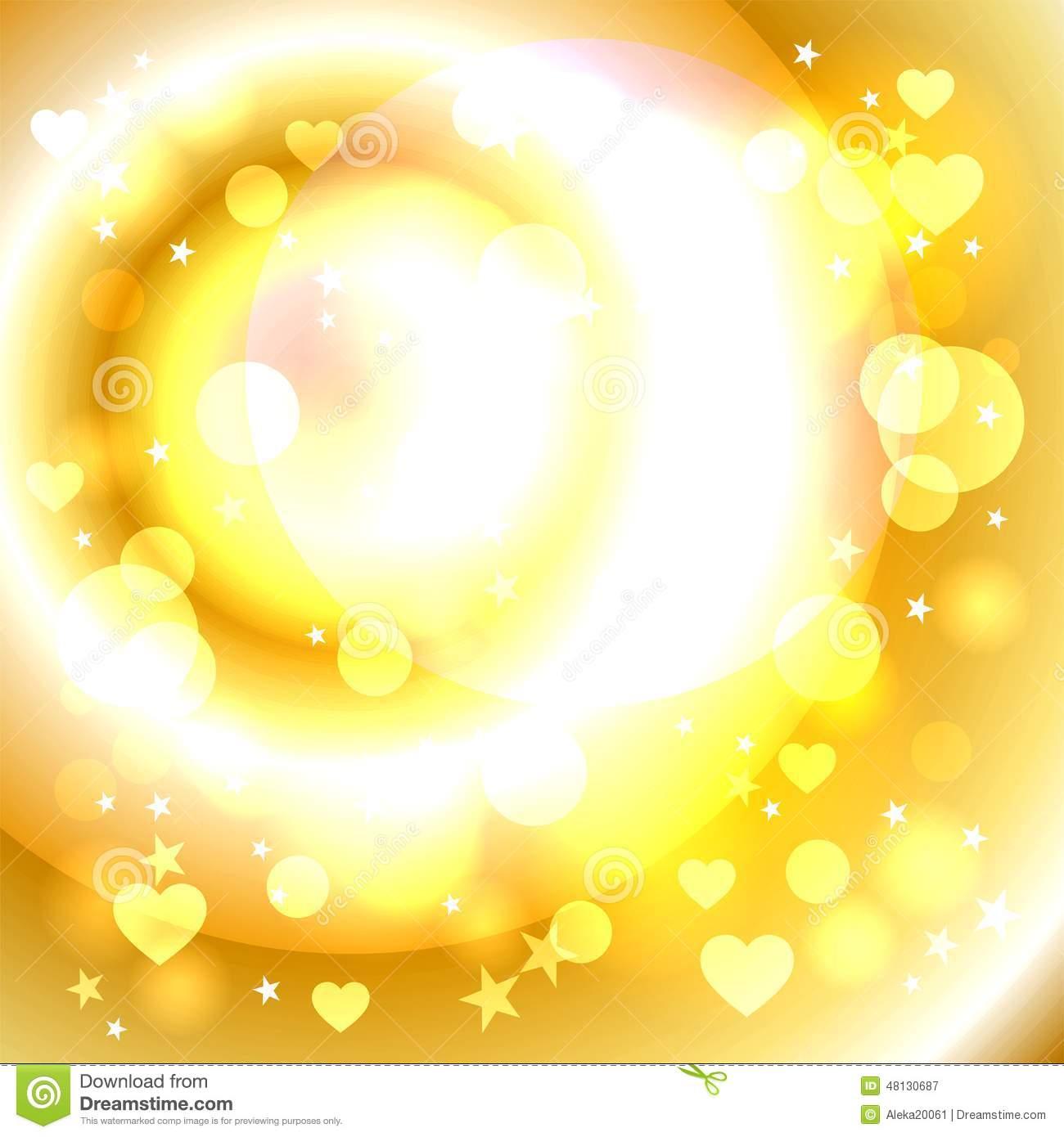 The Golden Glow Stock Illustration.