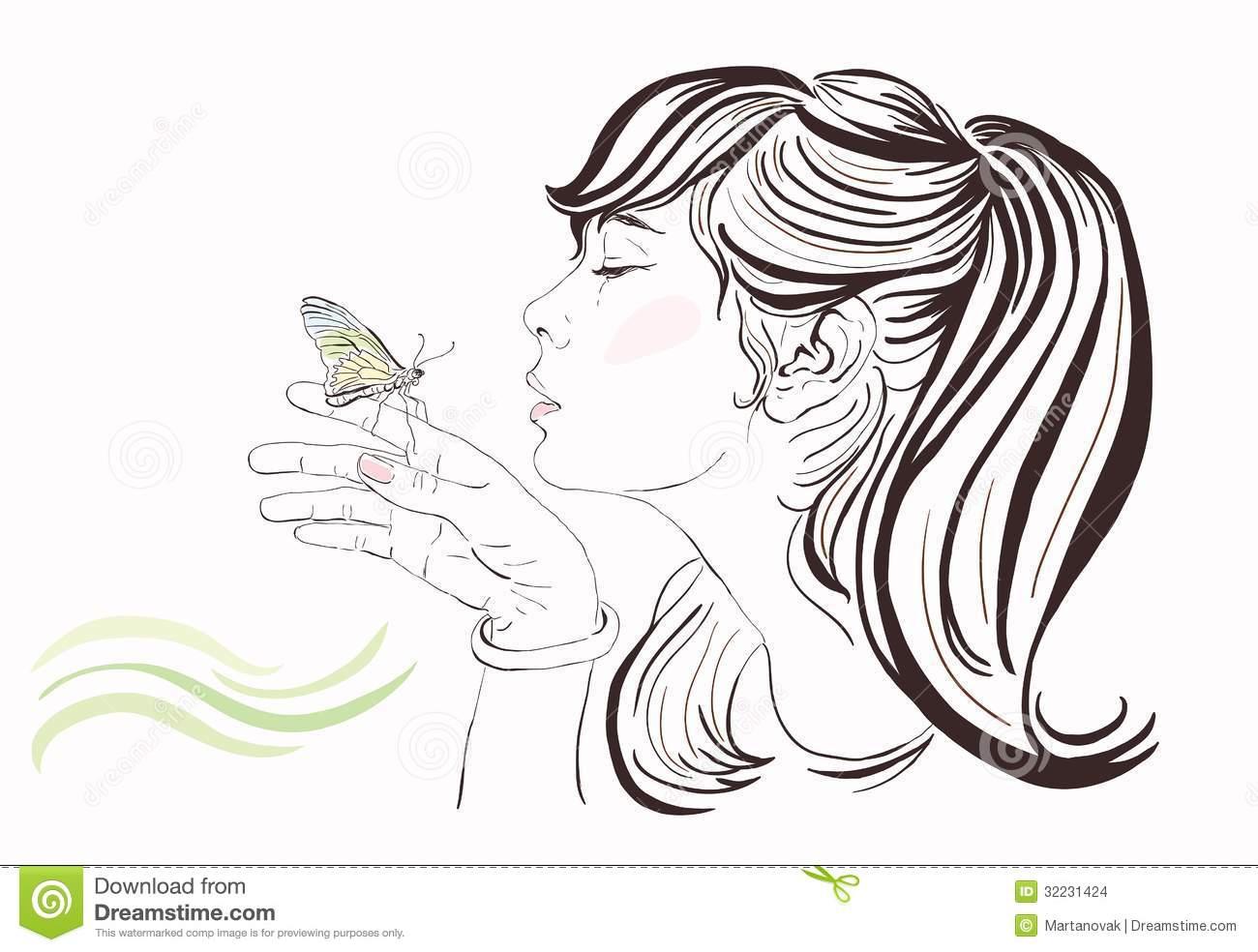 Clip Art Beautiful Woman Clipart.