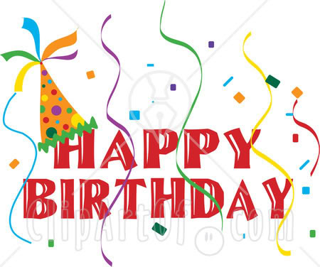 Beautiful happy birthday clipart.