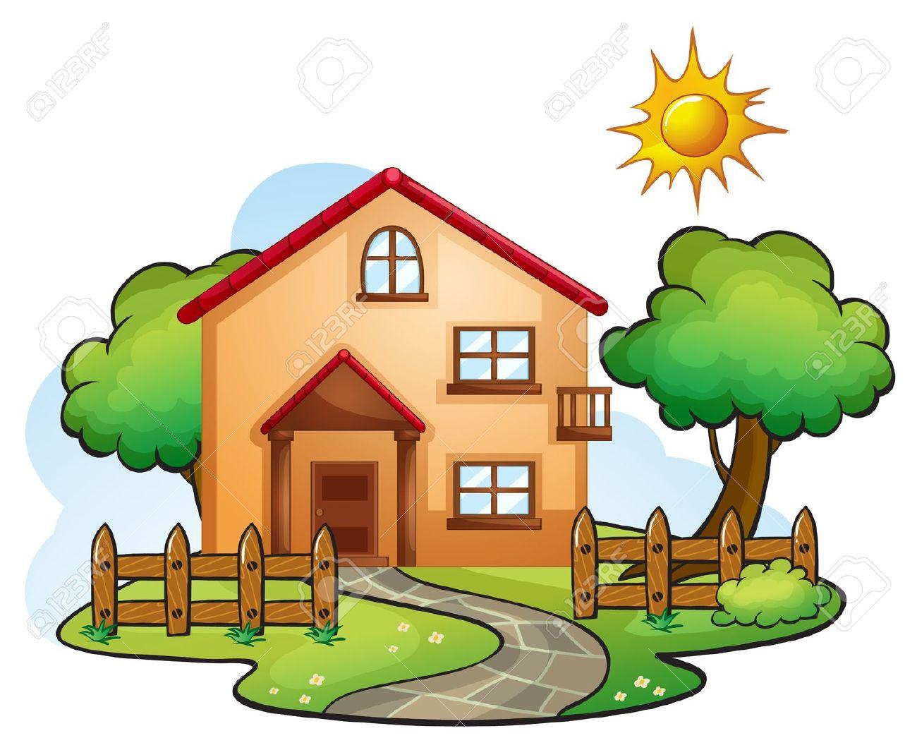 Beautiful house clipart clipground for Arriendo casa para jardin infantil