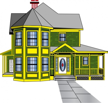 Beautiful house clipart.