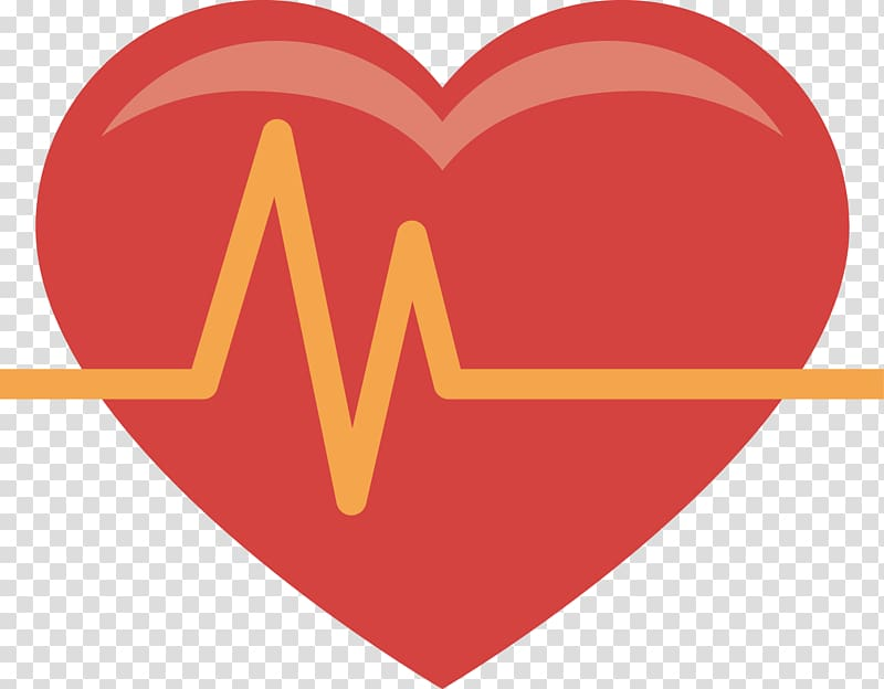 Heart illustration, Heart rate Icon, Heart rate heart.