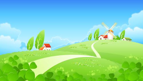 Landscape Cartoon.