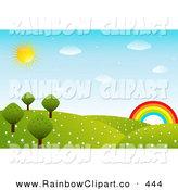 Royalty Free Stock Rainbow Designs of Hills.
