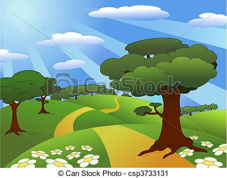 Beautiful landscape clipart hd.