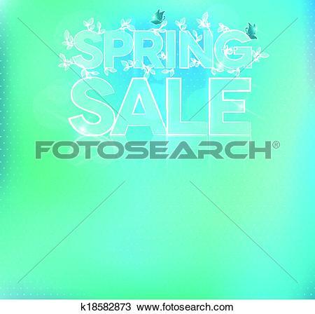 Clipart of Beautiful light blue sale brochure k18582873.