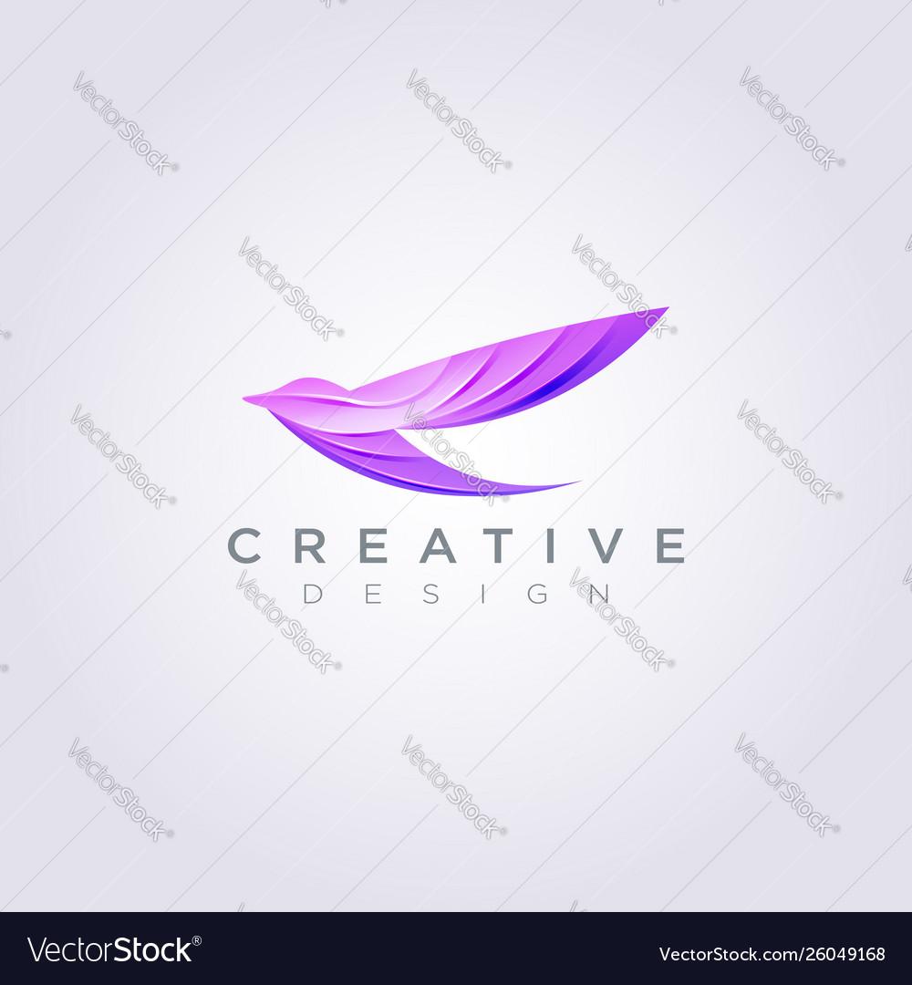 Beautiful bird flying design clipart symbol logo.