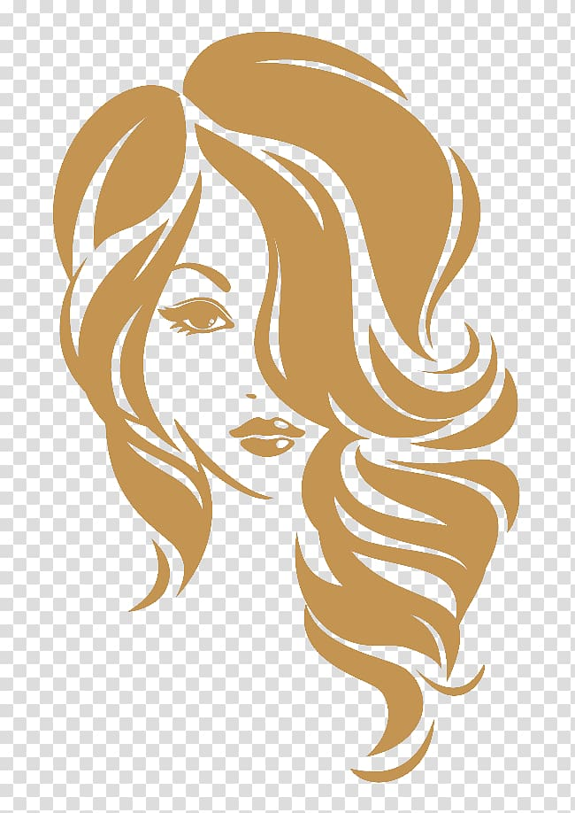 Beauty Parlour Hairstyle Logo, hair transparent background.