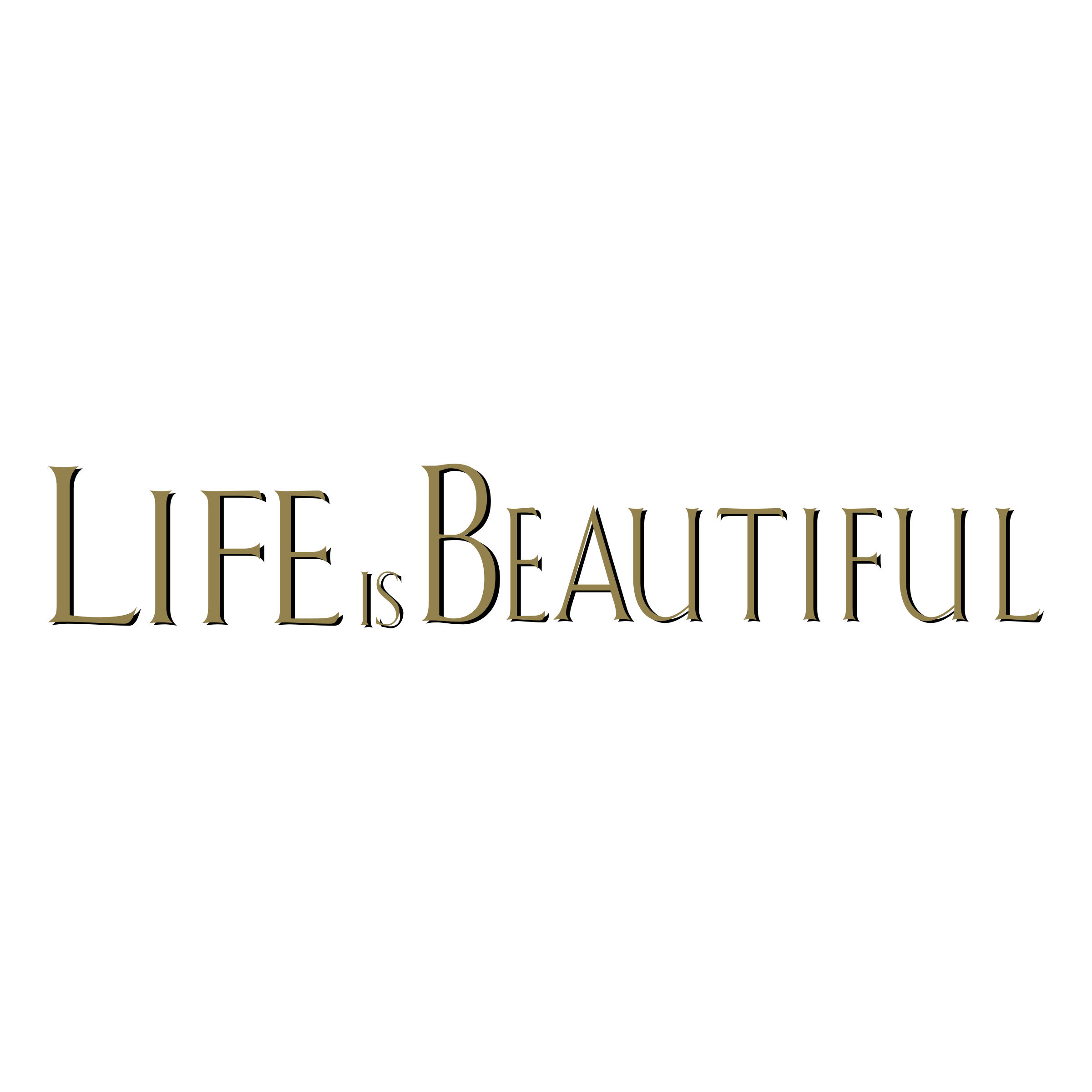 Life Is Beautiful Logo PNG Transparent & SVG Vector.