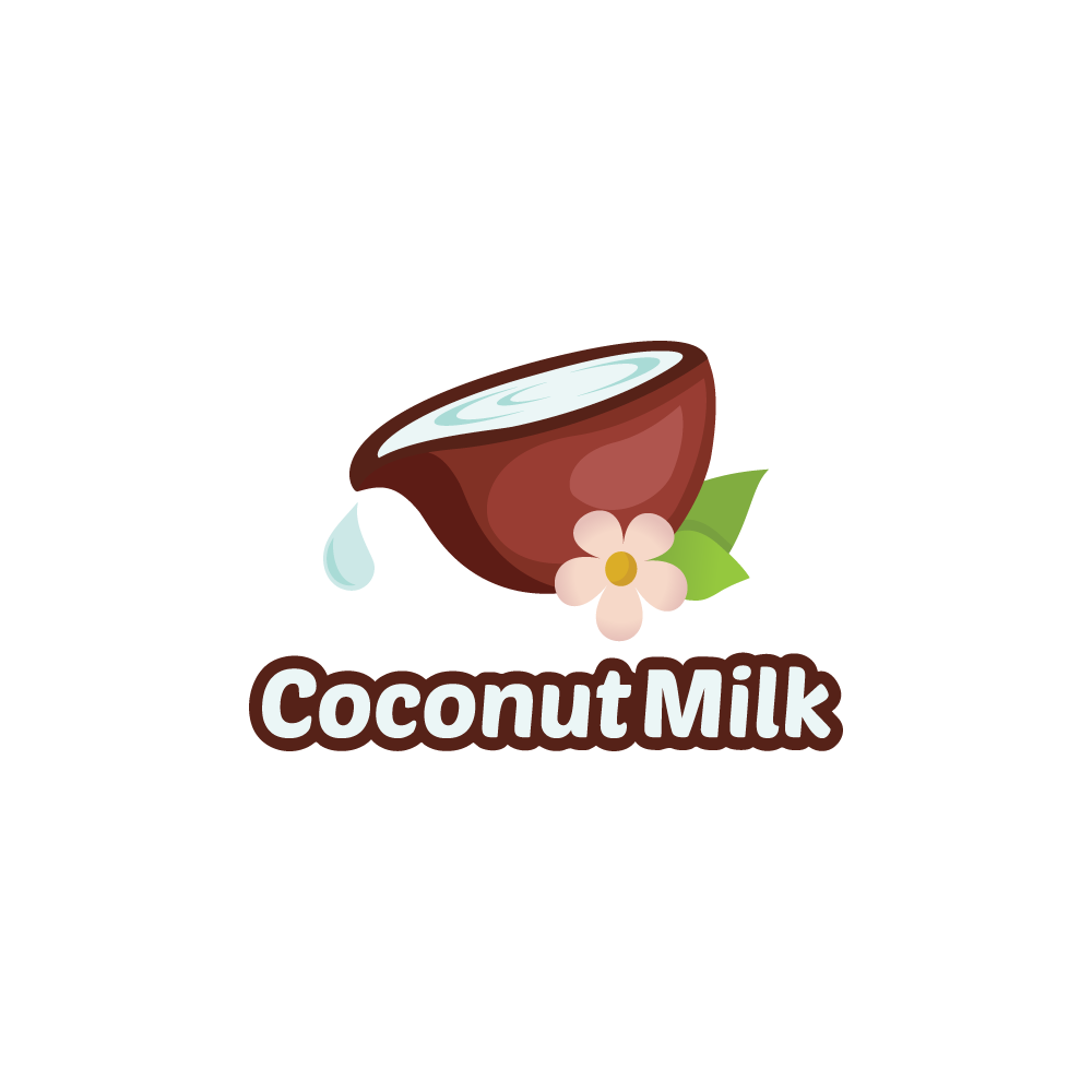 Coconut Milk Logo Design.