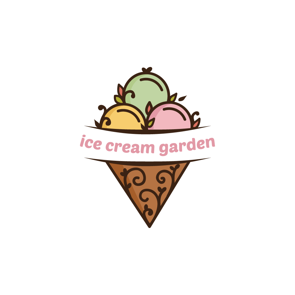 Ice Cream Garden Logo Design.