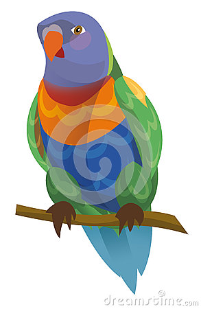 Cartoon Parrot.